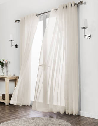 Sunfilter Voile Pencil Pleat Curtains