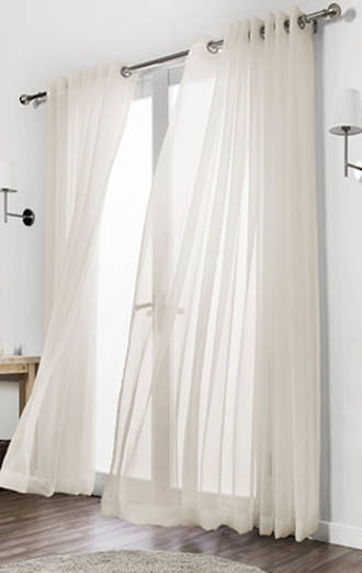 Sunfilter Voile Eyelet Curtains