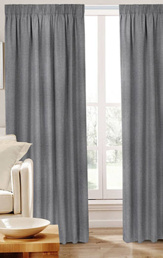 Dusk Pencil Pleat Curtains
