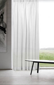 Cloud Voile Pencil Pleat Curtains