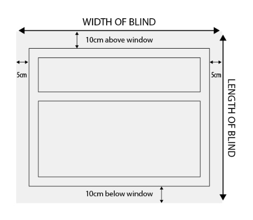 size and measure guide roman blinds. Black Bedroom Furniture Sets. Home Design Ideas